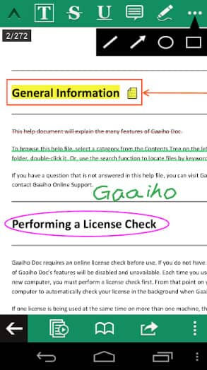 App đọc file pdf cho android Gaaiho