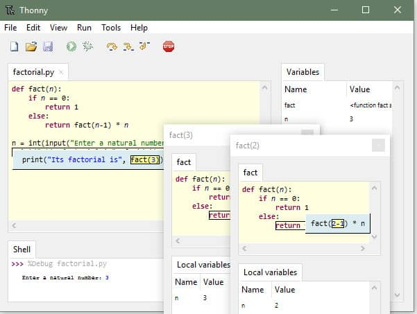 Phần mềm viết code python - Thonny