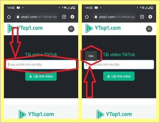 Lưu video tik tok với Ytop1 - 2