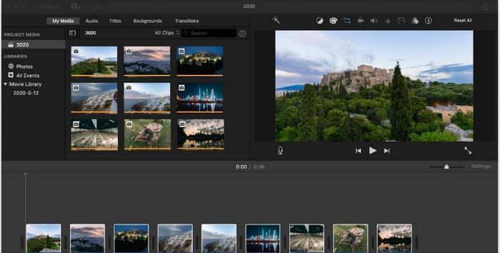 Phần mềm chỉnh sửa video macbook - iMovie