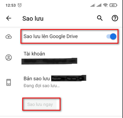 Cách sao lưu dữ liệu điện thoại trên Google drive