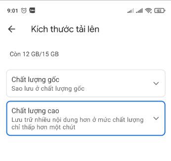 Cách lưu hình ảnh chất lượng cao trên google photos