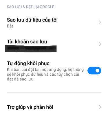 Cách sao lưu dữ liệu trên điện thoại
