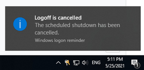 Cách hủy lệnh hẹn giờ tắt máy win 10
