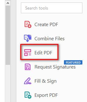 Xóa text trong pdf bằng Adobe Acrobat