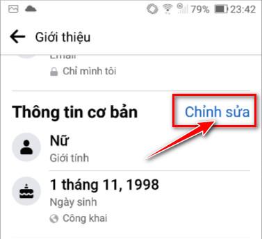 Cách ẩn ngày sinh trên FB bằng điện thoại - 3