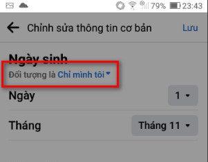 Cách ẩn ngày sinh trên FB bằng điện thoại - 4