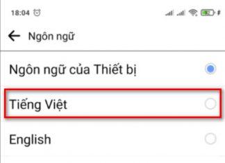Cách đổi ngông ngữ facebook trên điện thoai - 2