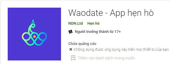 App tán gái Waodate