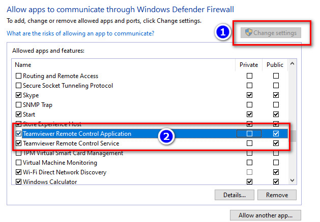 Lỗi unable to connect teamviewer - 3