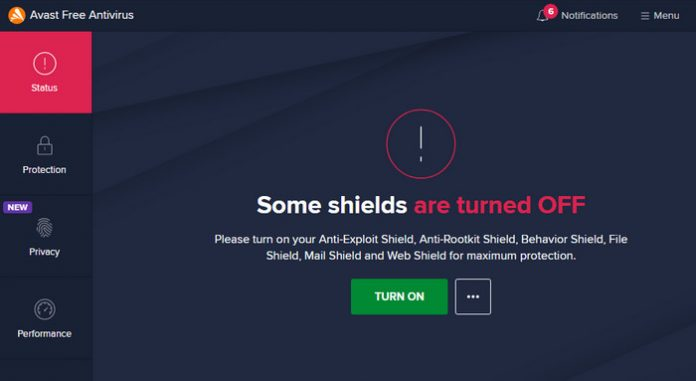Cách tắt avast free antivirus win 10